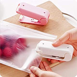 ZOUJIN Ready Stock Portable Mini Sealer Snack Plastic Bag Sealer Small Hand Pressure Sealing Machine (Color : Pink)