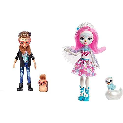 Enchantimals Hixby Hedgehog, Muñeca, Multicolor (Mattel Fjj22) + Saffi Swan,...
