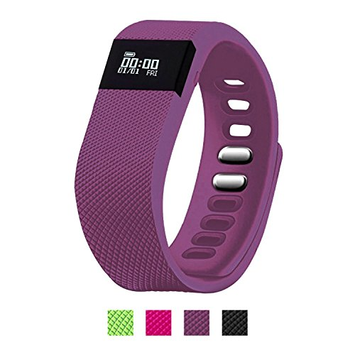 EiffelT Activity Tracker, Pedometer Sport Fitness Tracker Sleep Monitor Calorie Counter for Android and iOS Smart Phone (Purple)