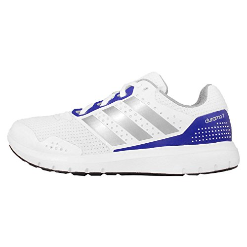 adidas Dames Duramo 7 W Sneakers, Wit/Zilver/Blauw, Maat 38 2/3