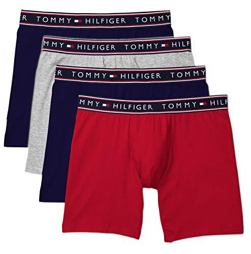 Tommy Hilfiger Mens 4 Pack Cotton Stretch Boxer Briefs