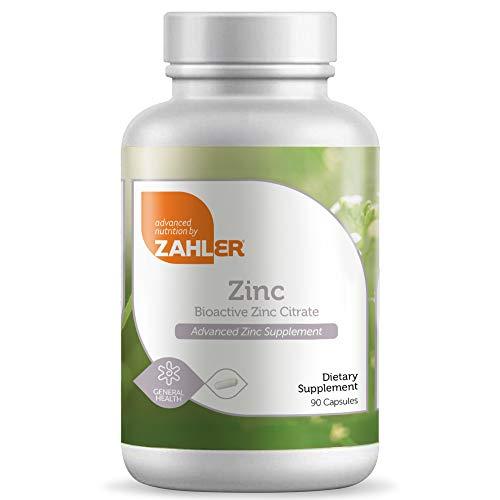 Zahler Zinc 50mg, Supports Immune and Antioxidant Protection, Certified Kosher, 90 Capsules