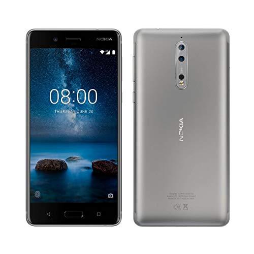 Nokia 8 - Smartphone DE 5.3' (Qualcomm Snapdragon 835, Octa Core, 4 GB de RAM, Memoria Interna DE 64 GB, Android 7.1.1 Nougat) Plata