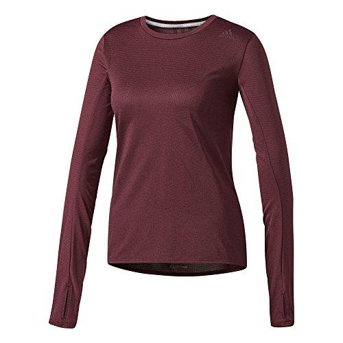 adidas Sn Ls Tee W T-shirt für Damen, Rot (Granat), M