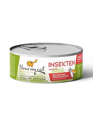 I love my cat NATURAL CAT FOOD ILMC - Nassfutter für Katzen mit Insekten - 6x100g