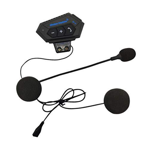 #N/A/a Motor Helmet Profession Auriculares Bluetooth Walkie-Talkie Manos Libres Negro
