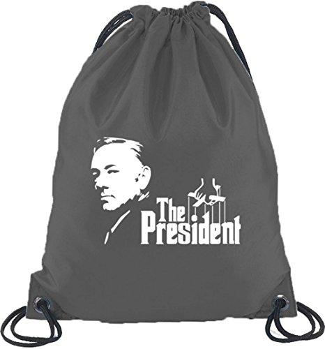 Shirtstreet24, HOC - The President, Turnbeutel Rucksack Sport Beutel, Größe: onesize,Dunkelgrau