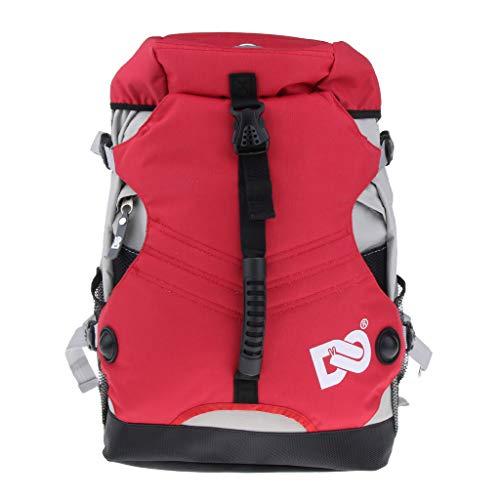 perfk Rollschuh -Rucksack für Inline-Skates oder Schlittschuhe - rot