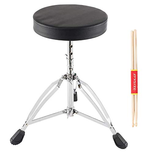 Drum Stool,Adjustable height Seat,Round Portable Chair with Anti-Slip Feet for drum beginners
