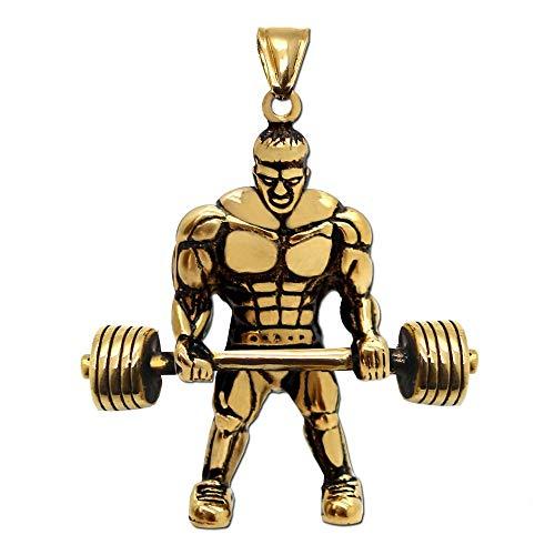 1 Ciondolo Fitness per catene di dimensioni fino a 4 mm colori disponibili: argento o oro Materiale: acciaio inossidabile Dimensione del trailer: 5cm x 4,5cm