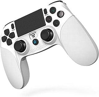 [2020最新版] SHINEZONE PS4 コントローラー Bluetooth 無線 HD振動 ゲームパット搭載 高耐久ボタン イヤホンジャック スピーカー DUALSHOCK 4代用 PS3 コントローラー(ホワイト)