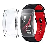 Compatible with Samsung Gear Fit2 Pro/Fit 2 Screen Protector Case Plated Ultra-ThinTPU 360° Whole Body Screen Protector Full Bumper Cover Shell (Claer)