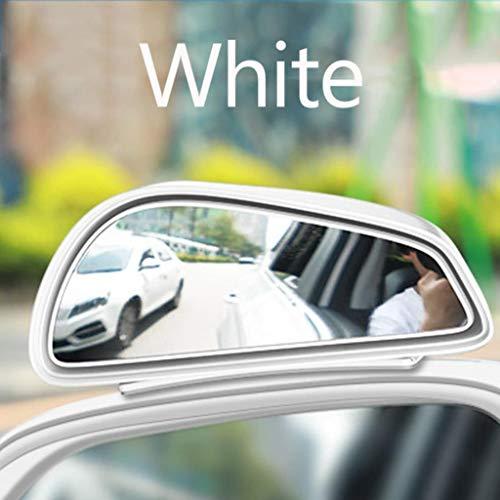 Auto cieco di sicurezza stradale specchio della zona specchio automatico specchio parcheggio vetro angolo cieco specchietto retrovisore auto convesso, (Color : Bianca)