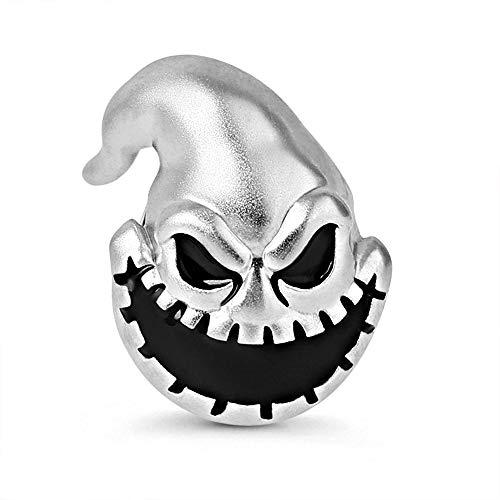 GNOCE 925 Sterling Silber Schreckliches Monster Charm Perle Kartoffelsack Mann Charms Laut Schreien Bestes Geschenk für Halloween