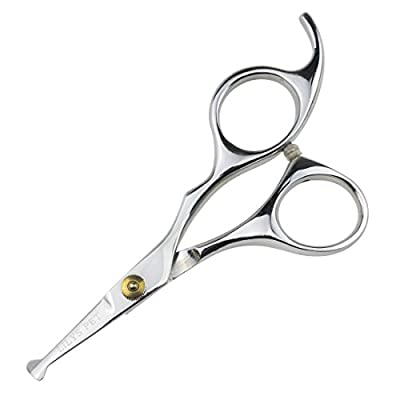 """LILYS PET 5.0"""" Right-Handed Round-Tip Pet Grooming Scissors, Stainless Steel Small Ball Tip for Nose Hair,Ear Hair,Face Hair,Paw Hair for Dogs and Cats… by LILYS PET"""
