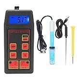 Probador de Calidad Del Agua, Detector de Medidor de Ph/Orp/Temp 3 En 1 Preciso Y Confiable Con Pantalla de Retroiluminación LCD, para Beber En El Spa de La Piscina