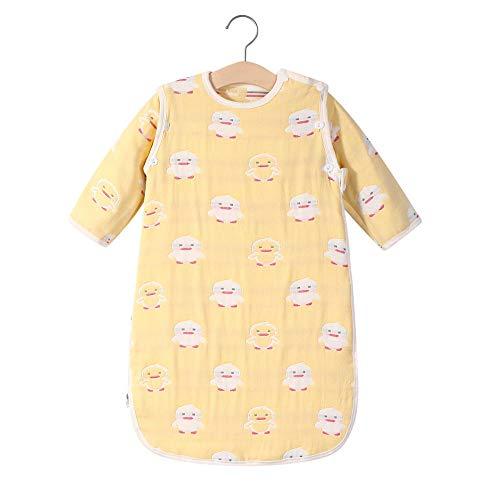 B/H Saco de Dormir bebé Durmiendo Cómodo,Saco de Dormir clásico de Cuatro Estaciones de algodón para bebés,Pijama de Manga Desmontable para bebés-02_1-2 años,Unisexo Manta de Algodón