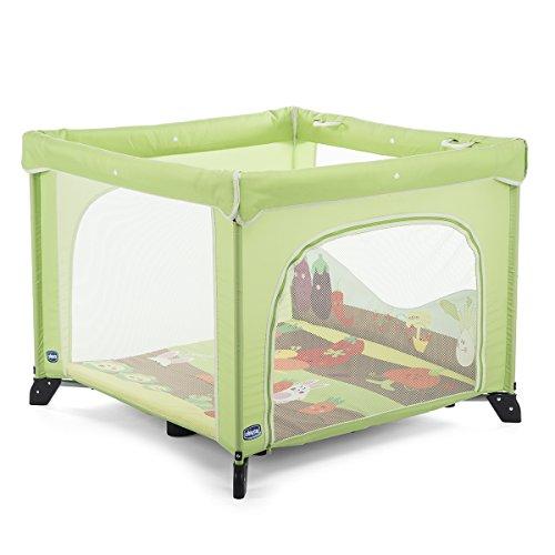 Chicco Open Box Parque de juegos infantil con alfombra extraíble, Verde (Fruit Salad)