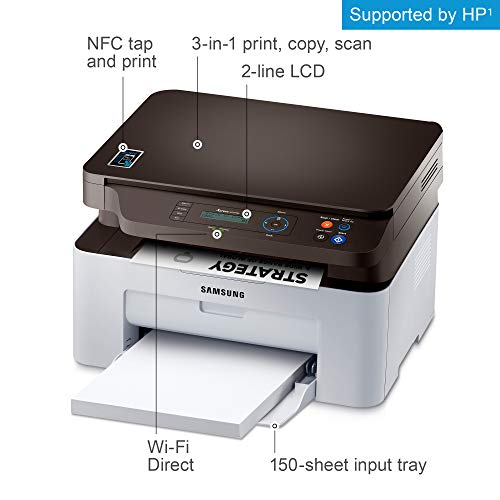 Samsung Xpress SL-M2070W Laser A4 WiFi Gris Multifuncional - Impresora multifunción (Laser, Mono, Mono, Mono, Negro, Manual)