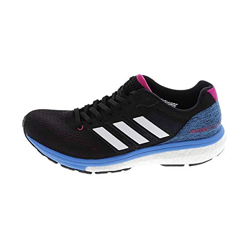 adidas Women's Adizero Boston 7 W Running Shoes, Black (Core Black/FTWR White/Real Magenta F18), 4 UK
