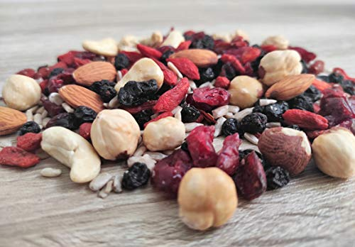 Unsalted and Raw SuperFood Blend Energy Mix | Healthy Nuts and Berries (1950 Grams)