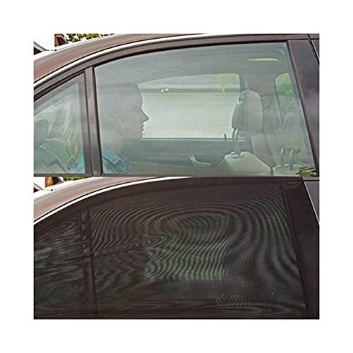 LINMAN Cortina de Coche Sol de Pantalla Negra Protección Solar y Aislamiento térmico Ventana Lateral Sombra de automóvil Cortina de Coche Protector DE Sol Universal (Color : Front 2Pcs)