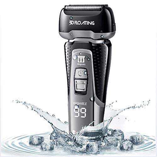 Electric Shaver, Men's Body Groomers Electric Foil Shaver Wet Dry with Clean Charge System Best Gift for Dad and Boyfriend