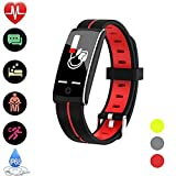 Fitness Tracker, Activity Tracker Smart Sports Watch Heart Rate Monitor IP68 Waterproof Sleep Monitor with Pedometer Durable Life Smart Bracelet Android IOS Phones For Men Women Kids Gift Pet