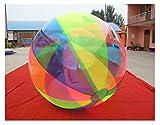 Water Ball 2 Metros Tricolor (Amarillo - Azul - Rosa) PVC Super Resistentes- Esfera acuática Agua - Hinchable acuático - Water Zorb Ball (Material PVC Puro 1 mm Grosor) Nº1