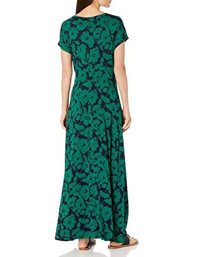 Amazon Essentials Twist Front Maxi Dress Vestido, Verde Navy Abstract Floral, S