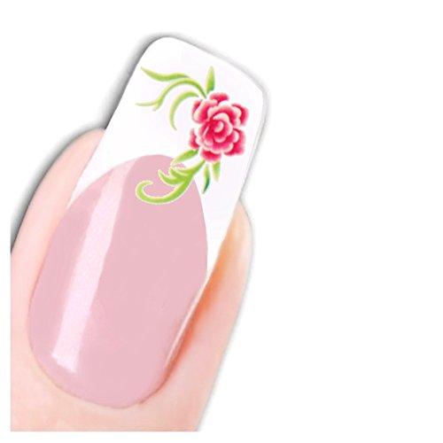 Just Fox – Tattoo Nail Art Autocollants Stickers Fleurs pour ongles Nouveau.