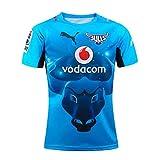 YHANS Rugby Coupe du Monde 2019 en Nouvelle-Zélande Bulls Super Rugby Jersey, Jersey de Formation des Hommes Séchage Rapide Respirant Hauts T-Shirt Polo,Bleu,L