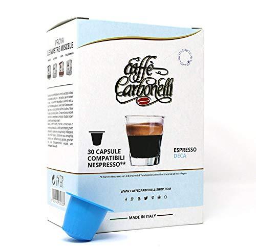 Caffè Carbonelli Capsule Decaffeinato - Astuccio da 30 Capsule compatibili Nespresso®