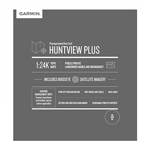Garmin Huntview Plus, Preloaded microSD Cards With Hunting Management Units for Garmin Handheld GPS Devices, Colorado