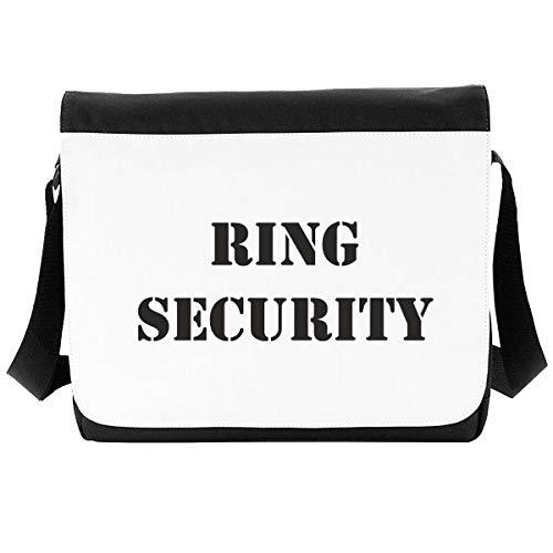 Anillo de seguridad declaración de boda [WED17] bolso de hombro, Black (Negro) - SB-WED17-9U-Large