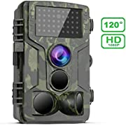 FHDCAM Trail Game Camera, Hunting Cam Scouting Surveillance 1080P Waterproof Wildlife Monitoring with 120° Detection Fast Trigger Speed Motion Activated and Night Vision