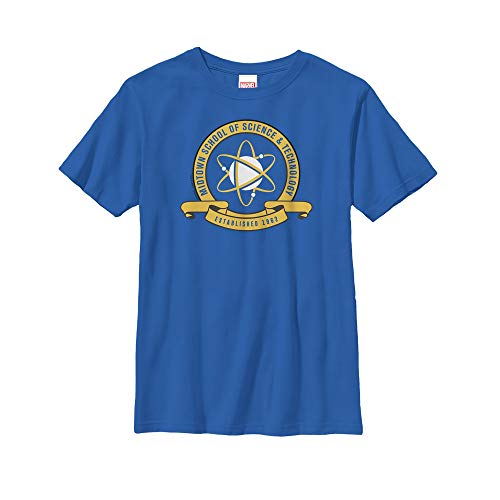 Marvel Boys' Spider-Man Homecoming Midtown School Crest Royal Blue T-Shirt