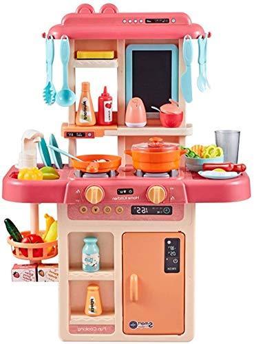 FSHOW Kids Kitchen Playset Pretend Food Toys Gor Paydlers, 42pcs/Set Chef rol Play Accessories, Simulación De La Cocina para Niñas Y Niños, Agua Reciclada Y Sonidos Reales