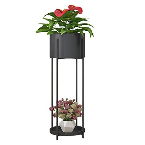 GWM Fer Art Stand De Fleurs Moderne Simple Salon Étage Intérieur Pot De Fleur Porte Balcon Décoration Plantes Grasses Plante Plateau, Taille: 20 * 72CM (Couleur : Noir, Taille : 10.5×72×20cm)