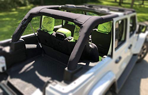 Koverz Neoprene Roll Bar Cover Padding Compatible with Jeep Wrangler JL Unlimited 4-Door JLU 2018-Present - Black