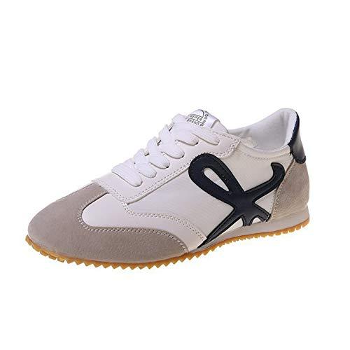 ASMCY Zapatos para Correr Mujer Respirable Y Ligero Casual Moda Al Aire Libre Zapatillas de Deporte, Caminando Trotar Aptitud Atlética Zapatillas,Negro,EU39