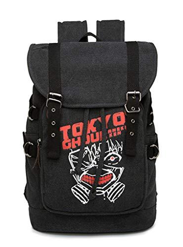 Cosstars Tokyo Ghoul Anime Cosplay Canvas Backpack Schultasche Rucksack Drawstring Büchertasche Daypack