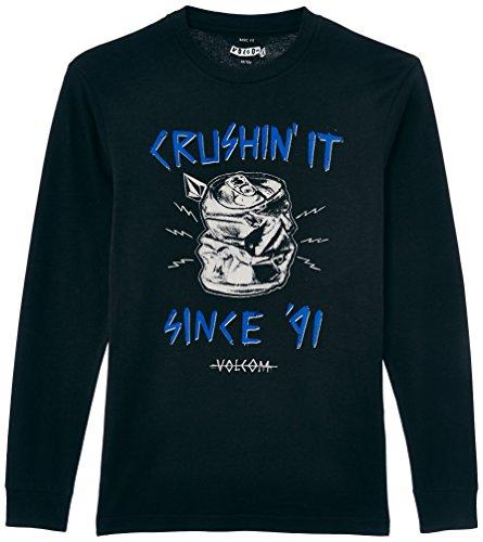 Volcom Crushing IT LS T-Shirt Garçon, Noir (Black), X-Large (Taille Fabricant: XL)