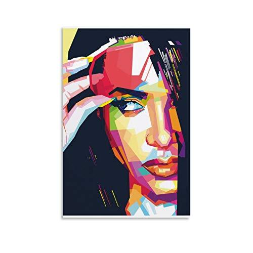 YINGYUE Aaliyah Haughton Aaliyah In WPAP Poster, dekoratives Gemälde, Leinwand, Wandkunst, Wohnzimmer, Poster, Schlafzimmer, Malerei, 20 x 30 cm