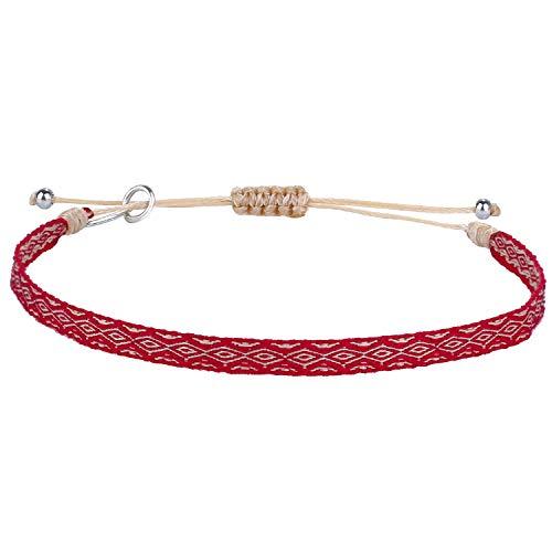 Kanyee Bracelets D'amitié Tissés à La Main Bracelets Corde Tressés Réglable Bijoux Vintage – 02J