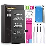 Batería para iPhone 6s, YARBER Alta Capacidad 2200mAh Li-Ion con 29% más de Capacidad y con Kits de Herramientas de reparación, Manual de Instrucciones, Protector de Pantalla e Cinta Adhesiva