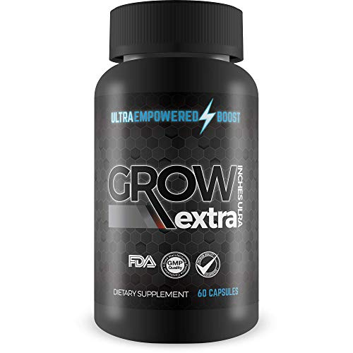 Grow Extra Inches Ultra - Growth Formula - Empowered Enlargement Formula to Support Tissue Growth, Circulation, Muscle Gains - Empowered Boost Male Enlargement Pills for Men