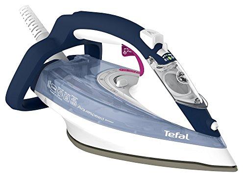 Tefal FV5546 - Plancha (Plancha vapor-seco, Suela de Durilium, 2 m, 190 g/min, Azul, Blanco, 40 g/min)