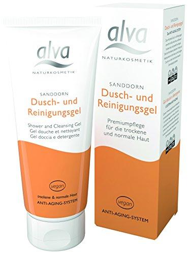 alva naturkosmetik Sanddorn Dusch- und Reinigungsgel, 1er Pack (1 x 100 ml)