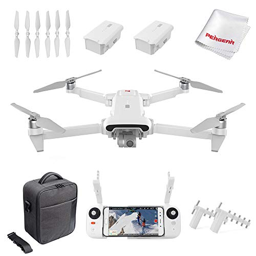 Xiaomi FIMI X8SE 2020 Quadcopter Drone Kit 8km Range 4K Camera UHD 100Mbp HDR Video 70mins Flight Time FlyCam Quadcopter UAV GPS Tracking Smart Remote Controller, W Signal Booster & Dual Batteries, White